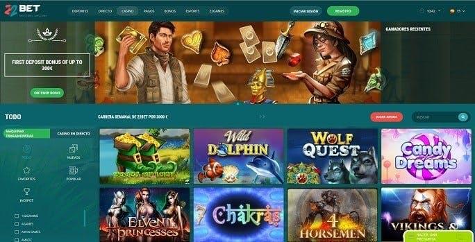 Juegos de casino de 22bet