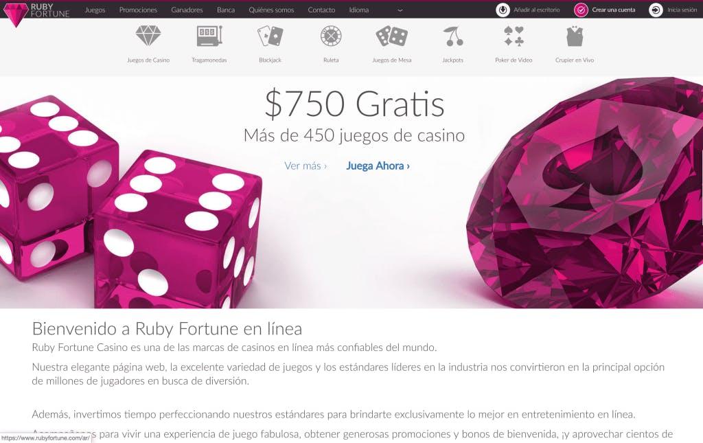 Ruby Fortune promozioni e bono