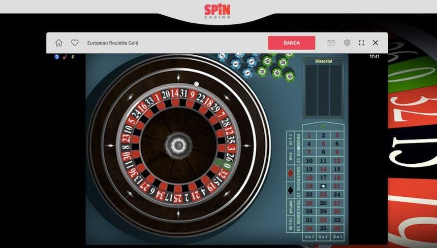 Ruleta en Spin Casino casino