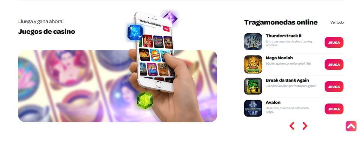 Descarga la aplicacion movil de Spin Casino