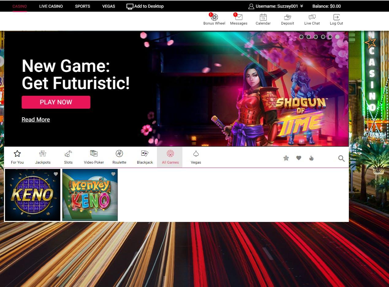 Juegos de casino de Spin Casino