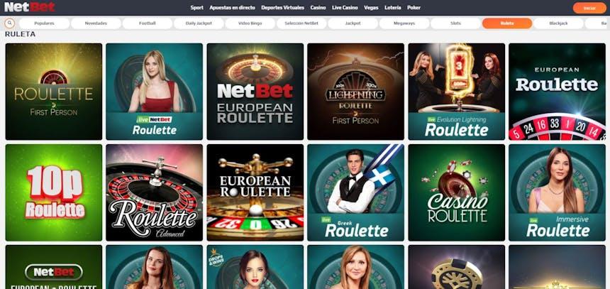 Ruleta en NetBet casino